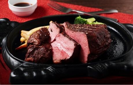 国産黒毛和牛の1ポンドステーキ